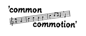 Logo koor Common Commotion
